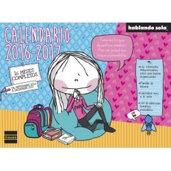 CALENDARIO DE PARED HABLANDO SOLA® 16 meses (2016-2017)